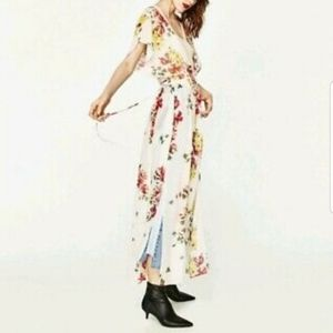 Zara Floral Sheer Duster Top Size XS